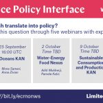 Webinar series on Science Policy Interface – YESS will be present!